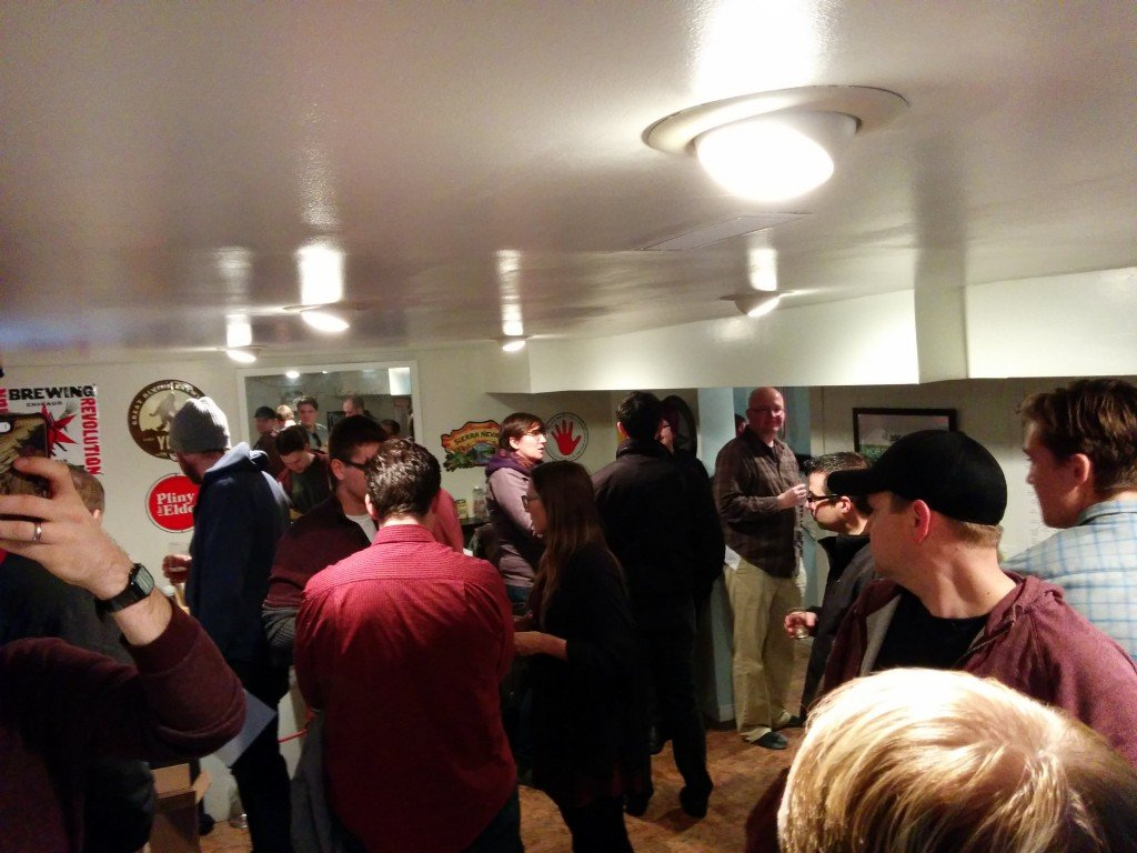 Some socializing at the East Side Advent Exchange while waiting for everyone to arrive.